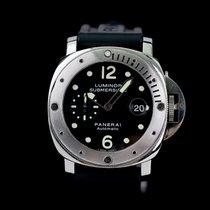 Panerai Luminor Submersible Zeljezo 44mm Crn Arapski brojevi