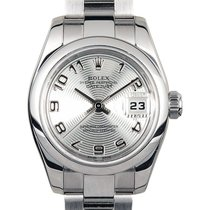 Rolex Lady-Datejust Steel 26mm Silver Arabic numerals