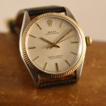 Rolex Oyster Perpetual 34 Goud/Staal 34mm Wit Geen cijfers Nederland, Amsterdam