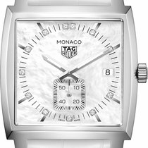TAG Heuer Monaco Lady Staal 37mm Parelmoer