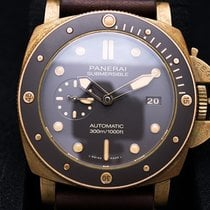 Panerai Luminor Submersible Bronze 47mm Castanho Sem números