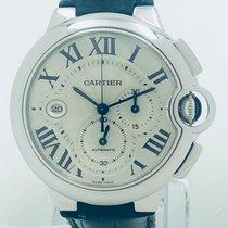 Cartier Ballon Bleu 42mm White gold 44mm Silver Roman numerals United States of America, California, Mission Viejo
