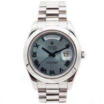 Rolex Day-Date II Platina 41mm Modrá