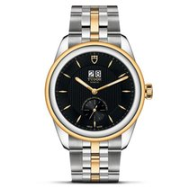 Tudor Glamour Double Date Gold/Steel 42mm Black No numerals