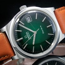 Omega Genève Steel 35mm Green No numerals India, Mumbai