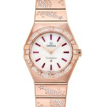 Omega Rose gold Quartz Mother of pearl 28mm new Constellation Quartz
