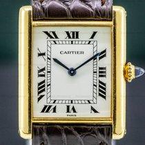 Cartier Tank Louis Cartier Oro amarillo 23.5mm Blanco Romanos