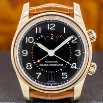 Girard Perregaux Rose gold Automatic Arabic numerals 38mm pre-owned Traveller