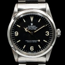 Rolex Steel Automatic Black pre-owned Explorer