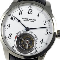 Ulysse Nardin Classic Ulysse Anchor Tourbillon Or blanc 44mm Blanc Arabes