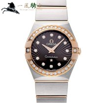 Omega pre-owned Quartz 24mm Brown Sapphire crystal 10 ATM