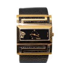Versace Yellow gold Quartz Black Roman numerals new