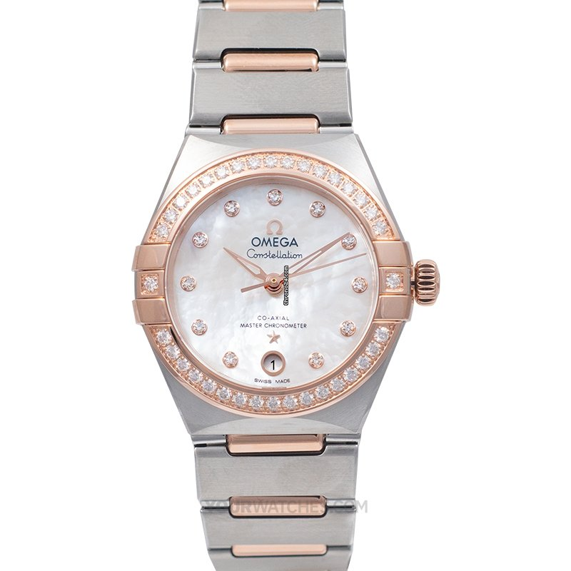 Omega Constellation Manhattan Co Axial Master Chronometer 29 mm Automatic White Mother Of Pearl