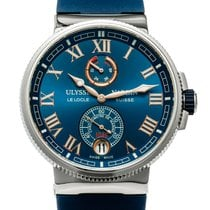 Ulysse Nardin Marine Chronometer Manufacture Steel 43mm Blue Roman numerals United States of America, Texas, Houston
