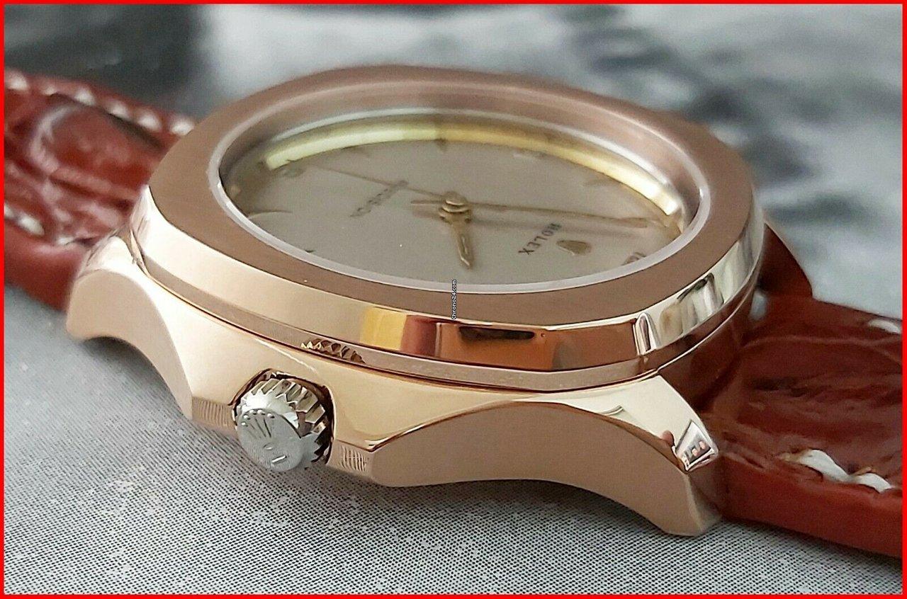 Rolex Precision Super Balance 710 Oversize 40mm Rose Gold Plated Skeleton
