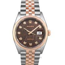 Rolex Datejust 126231-0025 Νέα Ροζέ χρυσό 36mm Αυτόματη