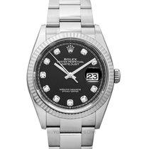 Rolex Lady-Datejust Acier 36mm Noir