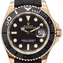 Rolex Rose gold Automatic Black 40mm pre-owned Yacht-Master 40