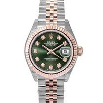 Rolex Lady-Datejust Or rose 28mm Vert