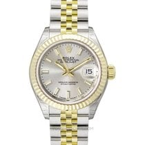Rolex Lady-Datejust Yellow gold 28mm Silver