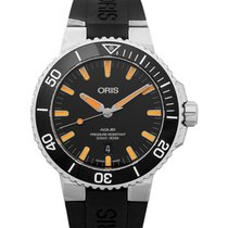 Oris Steel Automatic Black 43.50mm new Aquis Date