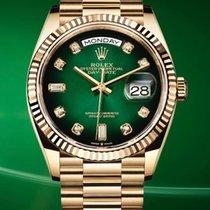Rolex Day-Date 36 Oro amarillo 36mm Verde Sin cifras España, Barcelona
