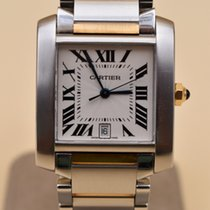Cartier Tank Française W51005Q4 Very good Gold/Steel 28mm Automatic
