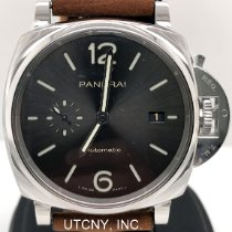 Panerai Luminor Due Acero 42mm Gris Arábigos