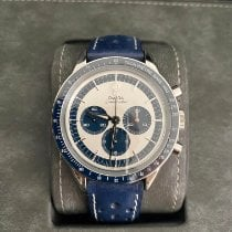 Omega Speedmaster Professional Moonwatch Steel 39.7mm Blue No numerals United States of America, Florida, Miami