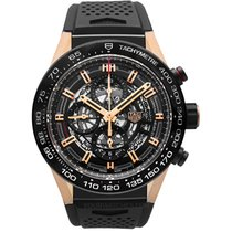 TAG Heuer Rose gold Automatic Black 45mm new Carrera Calibre HEUER 01