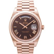 Rolex Rosa guld Automatisk Brun 40.00mm ny Day-Date 40