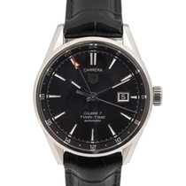 TAG Heuer Carrera Calibre 7 Steel 41mm Black No numerals