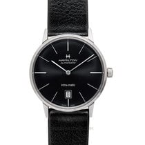 Hamilton Steel Automatic Black 38mm new Intra-Matic