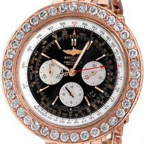 Breitling Red gold Automatic Black No numerals 43mm pre-owned Navitimer 01