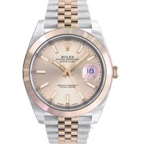 Rolex Or rose Remontage automatique Rose 41.00mm nouveau Datejust