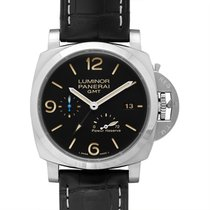 Panerai Luminor 1950 3 Days GMT Power Reserve Automatic Сталь 44mm Черный