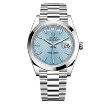 Rolex Day-Date 40 Platinum 40mm Blue
