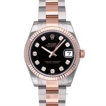 Rolex Lady-Datejust Rose gold 31mm Black