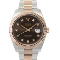 Rolex Datejust II Or rose 41mm Brun