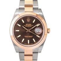 Rolex Datejust Steel 41mm Brown