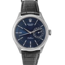 Rolex Cellini Date White gold 39mm Blue