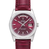 Rolex Day-Date 36 Or blanc 36mm Rouge