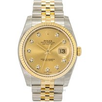 Rolex Datejust Yellow gold 36.00mm Champagne