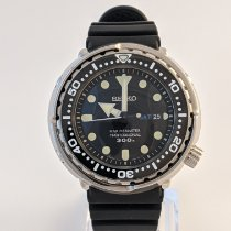 Seiko Marinemaster pre-owned 47,7mm Black Date Rubber