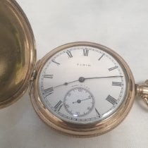 Elgin Acero y oro 50mm Cuerda manual 1821 vintage pocket watch usados