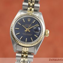 Rolex Lady-Datejust Or/Acier 25mm Bleu