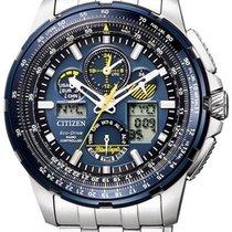 Citizen Promaster Sky Steel 46mm Blue Arabic numerals