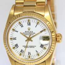 Rolex Yellow gold Automatic White Roman numerals 31mm pre-owned Lady-Datejust