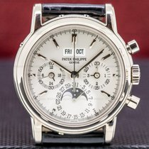 Patek Philippe Perpetual Calendar Chronograph White gold 36mm Silver United States of America, Massachusetts, Boston
