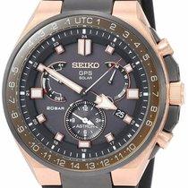 Seiko Astron GPS Solar Chronograph Titanium Black